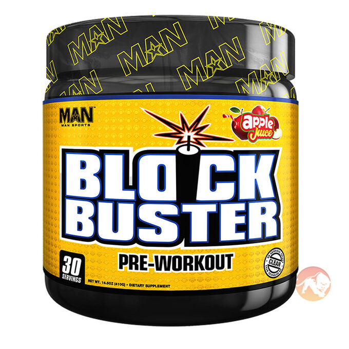 Man Sports BlockBuster 30 Servings Apple Juice