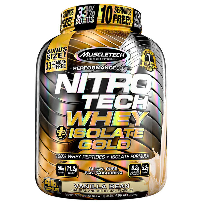 Muscletech Nitro-Tech Whey Plus Isolate Gold 0.9kg Double Rich Chocolate