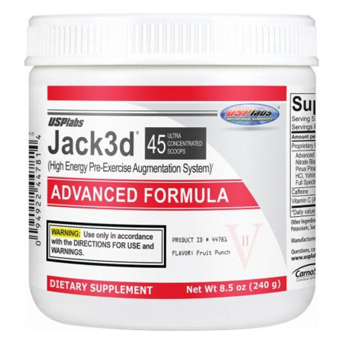 Jack3d Advanced 45 Servings Dragon Fruit