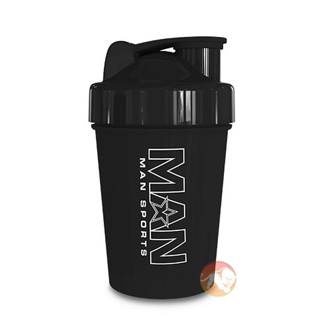 Man Sports Shorty Shaker 500ml Black