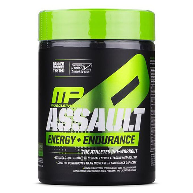 MusclePharm Assault Energy and Endurance 30 Servings Blue Raspberry