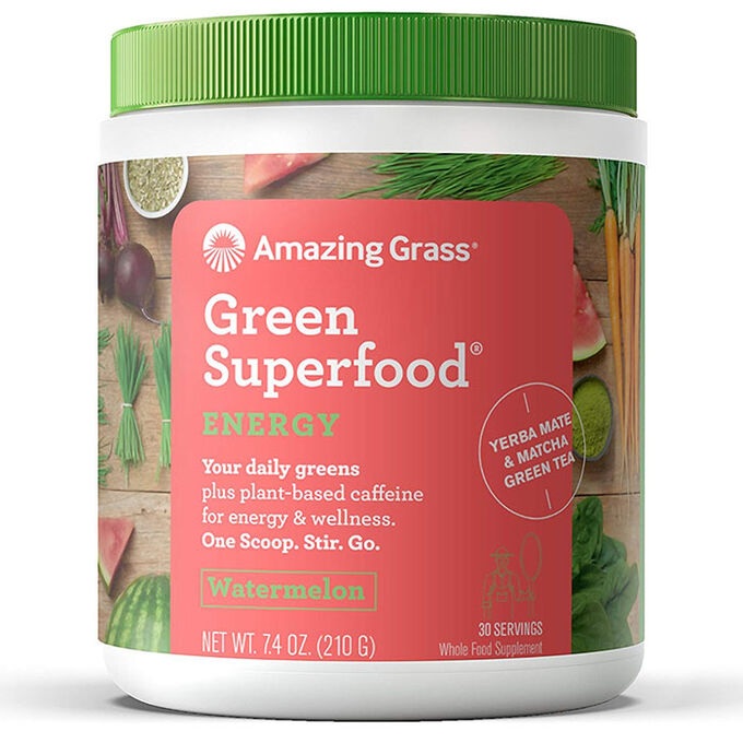 Amazing Grass Green SuperFood Energy 30 Servings Watermelon