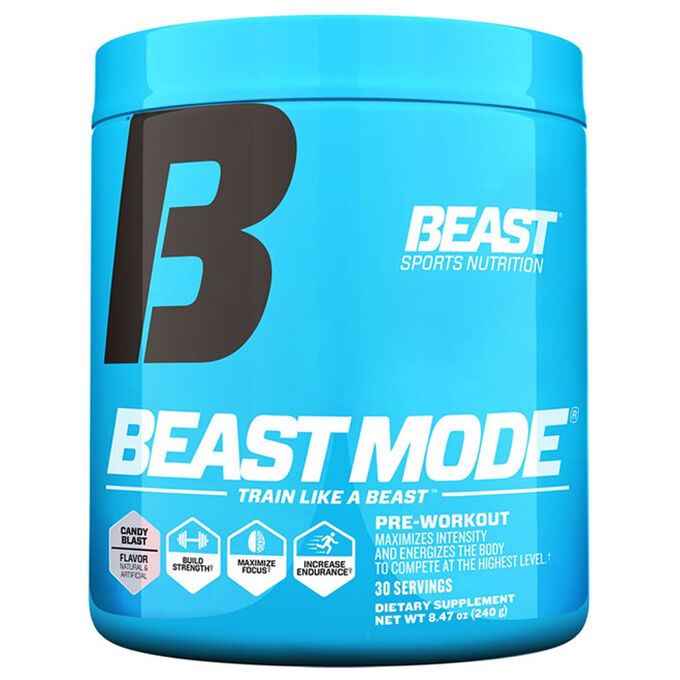 Beast Sports Nutrition Beast Mode 30 Servings Candy Blast