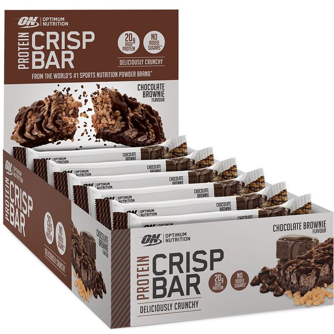 Optimum Nutrition Protein Crisp Bar 10 Bars Chocolate Brownie