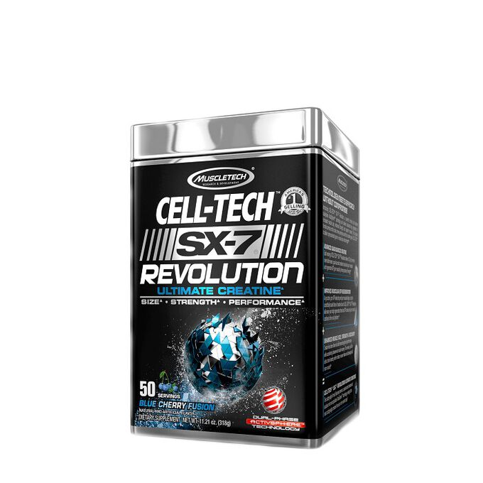 Muscletech Cell-Tech SX-7 Revolution 50 Servings Blue Cherry Fusion