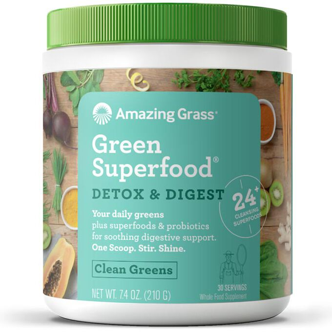 Amazing Grass Green SuperFood Detox & Digest 30 Servings