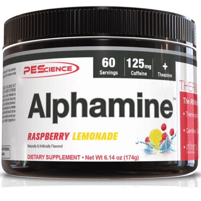 PEScience Alphamine 60 Servings Raspberry Lemonade