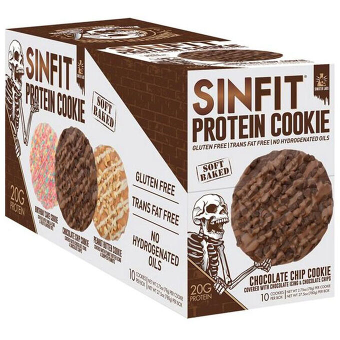 Sinfit Protein Cookie 10 Cookies Chocolate Chip