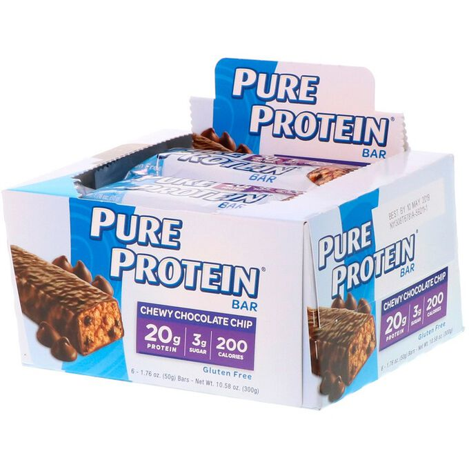 Pure Protein Pure Protein Bar 6 Bars Chewy Chocolate Chip