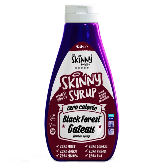The Skinny Food Co Zero Calorie Black Forest Gateau Syrup 425 ml