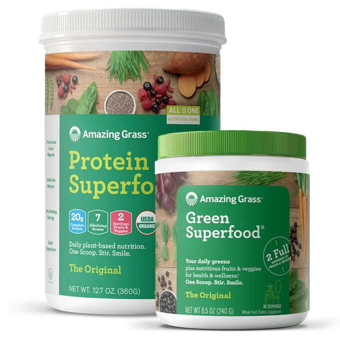 Amazing Grass Green Super Food Bundle Powder