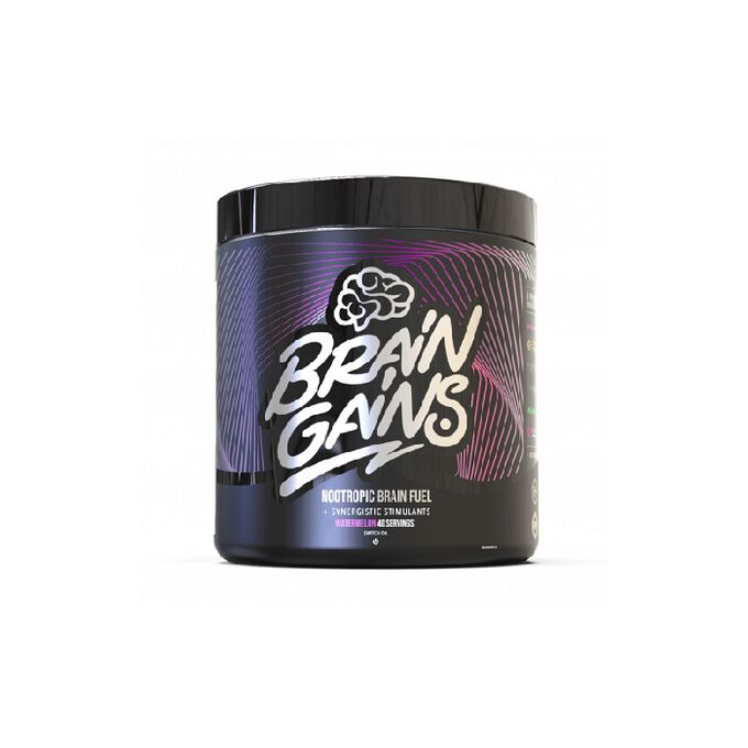 Brain Gains Nootropic Brain Fuel Black Edition 40 Servings Mango