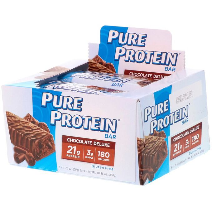 Pure Protein Pure Protein Bar 6 Bars Chocolate Deluxe