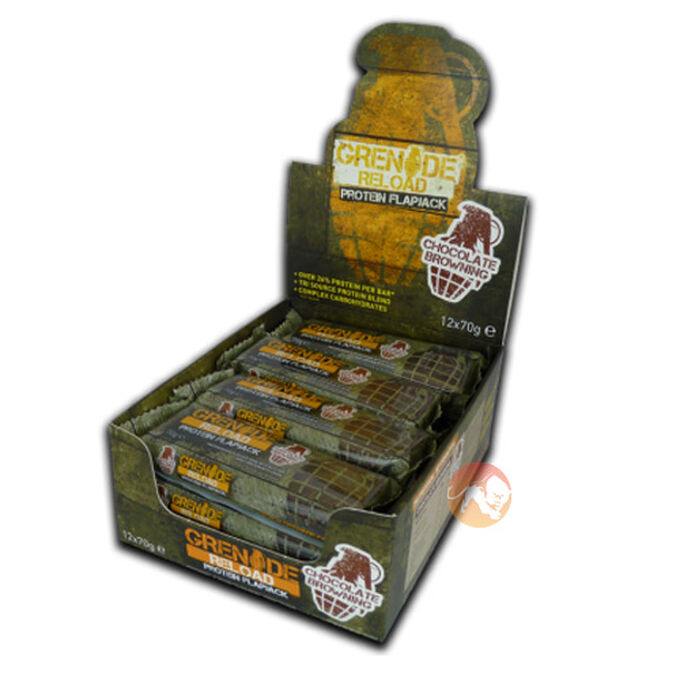 Grenade Reload Flapjacks 12 Flapjacks Chocolate Orange
