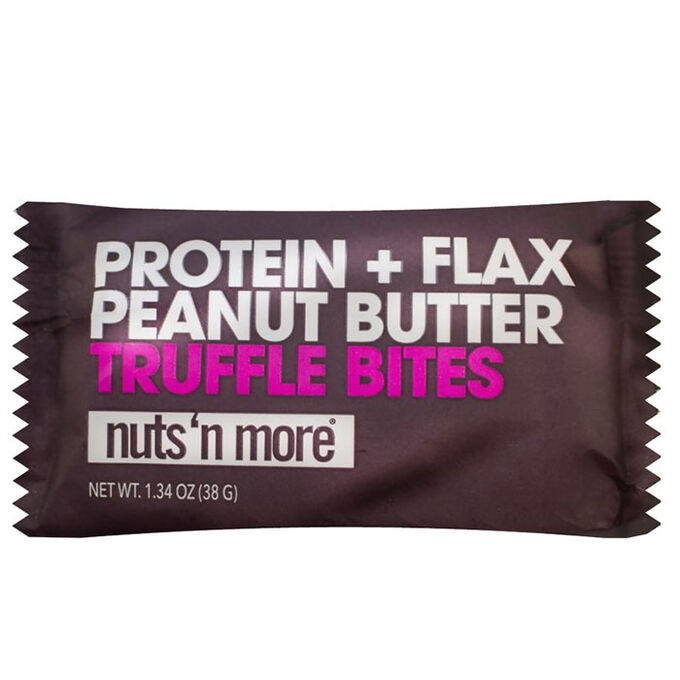 Nuts 'N More Protein+Flax Truffle Bites 12 Packs Peanut Butter