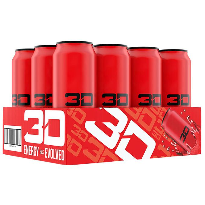 3D Energy Drink 12 Cans Red