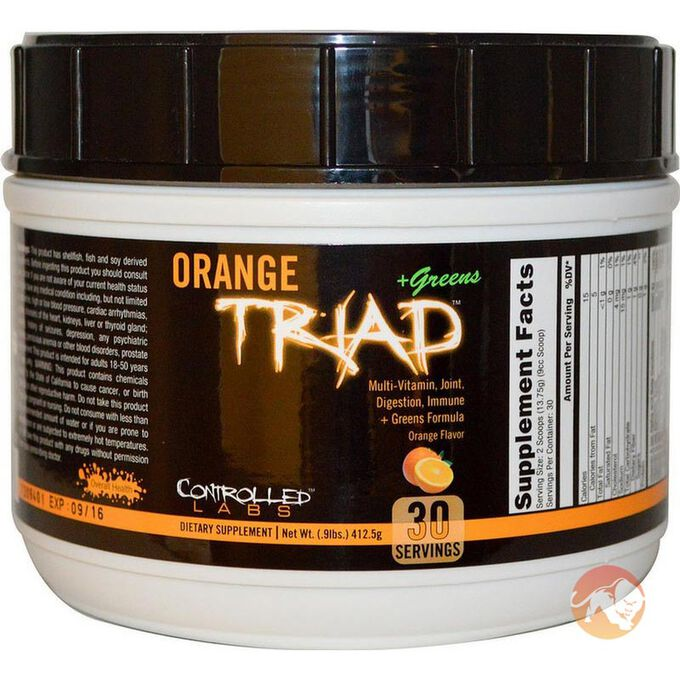 Orange Triad + Greens 30 Servings - Orange