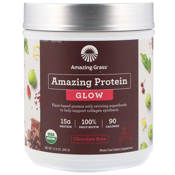 Amazing Protein Glow 15 Servings Chocolate Rose
