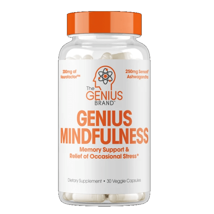 The Genius Brand Genius Mindfulness 30 Capsules