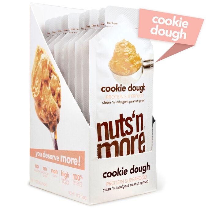Nuts 'N More Nuts N More High Protein Peanut Butter 10 Pack Cookie Dough