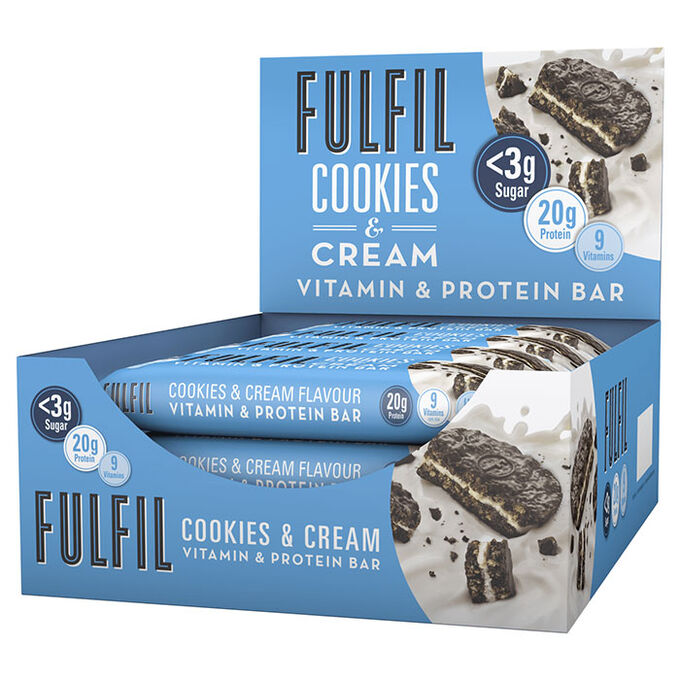 Fulfil Vitamin and Protein Bar 15 Bars Cookies and Cream
