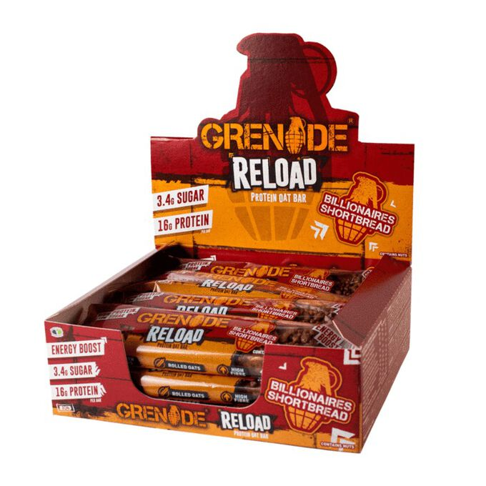 Grenade Grenade Reload Protein Oat Bar 12 Bars Billionaires Shortbread