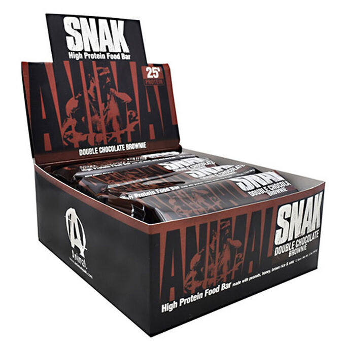Animal Snak 12 Bars Double Chocolate Brownie