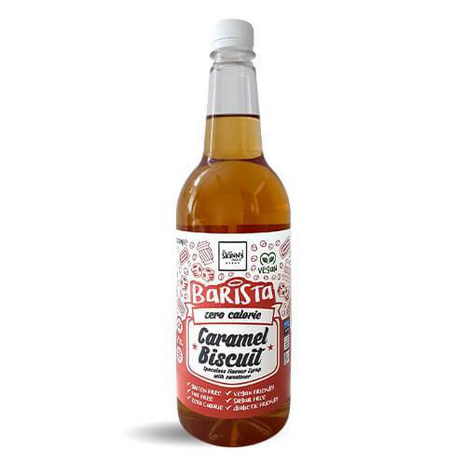 The Skinny Food Co Non-Dairy Sugar Free Barista Syrup 1 Litre  Caramel Biscuit