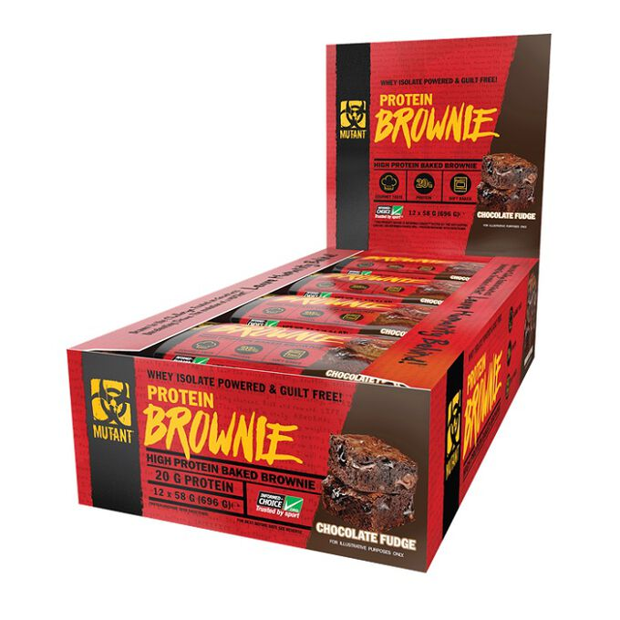 Mutant Mutant Protein Brownie 12 Brownies Chocolate Fudge