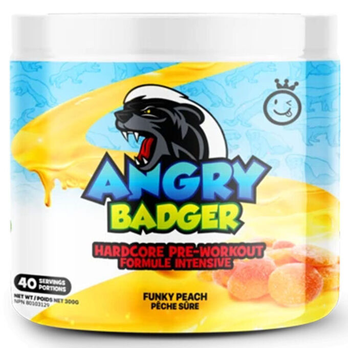 Yummy Sports Angry Badger 40 Servings Funky Peach