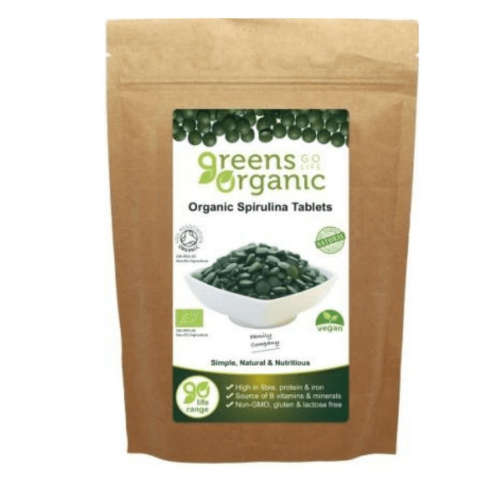 Greens Organic Organic Spirulina 500mg 120 Tablets