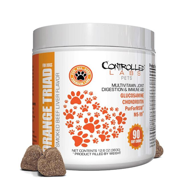 Controlled Labs Pets Orange Triad for Dogs 90 Soft Chews