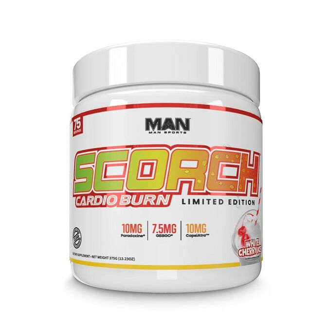 Man Sports Scorch Cardio Burn 75 Servings White Cherry Ice