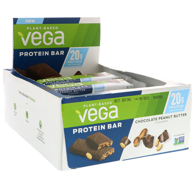 Vega Vega Protein Bar 12 Bars Chocolate Peanut Butter