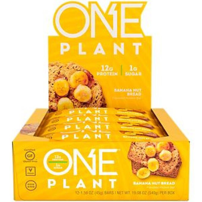 Oh Yeah Nutrition One Plant Bar 12 Bars Banana Nut Bread