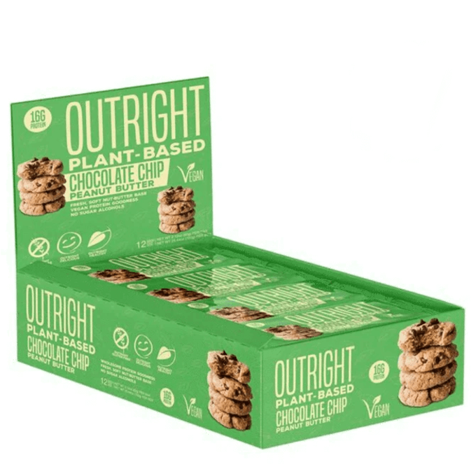 MTS Nutrition Outright Plant-Based Protein Bar 12 Bars Chocolate Chip Peanut Butter