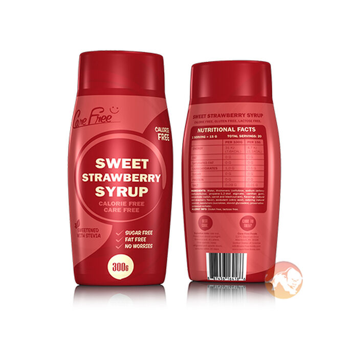 Care Free Care Free Syrup 300g Sweet Strawberry