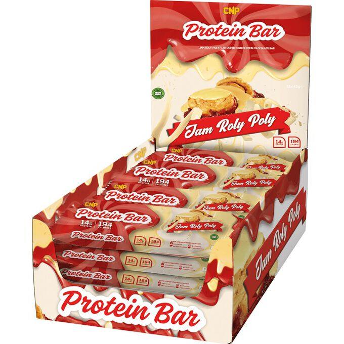 CNP Professional CNP Protein Bar 12 Bars Jam Roly Poly