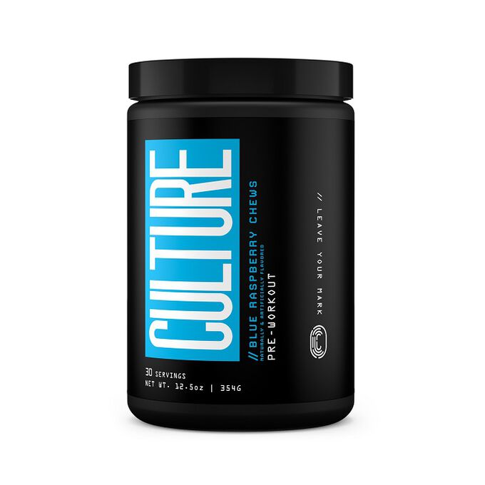 Culture Supplements Culture Pre-Workout 30 Servings Blue Raspberry Chews