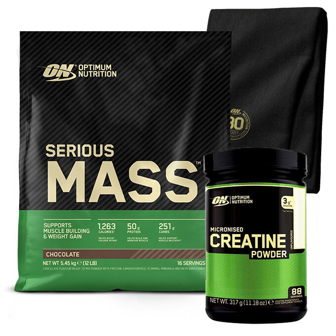 Optimum Nutrition Serious Mass 12 lb - Chocolate