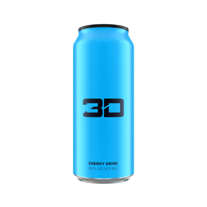 3D Energy Drink 473ml x 12 Red