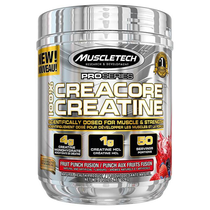 Creacore Creatine 50 Servings Fruit Punch Fusion
