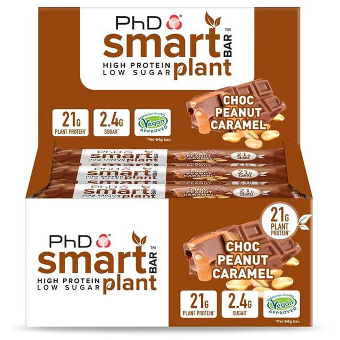 Smart Bar Plant 12 Bars Choc Peanut Caramel