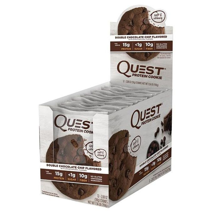 Quest Protein Cookie 12 Cookies Double Chocolate Chip
