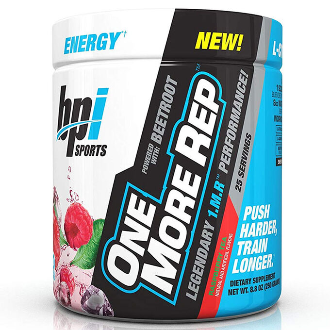 BPI Sports One More Rep 25 Servings Raspberry Tea