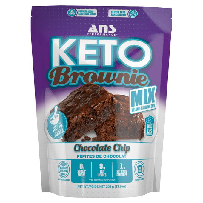 ANS Performance Keto Brownie Mix 395g Chocolate Chip