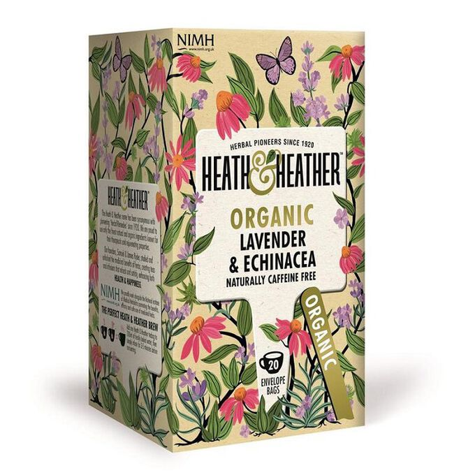 Heath And Heather Organic Lavender & Echinacea 20 Bags