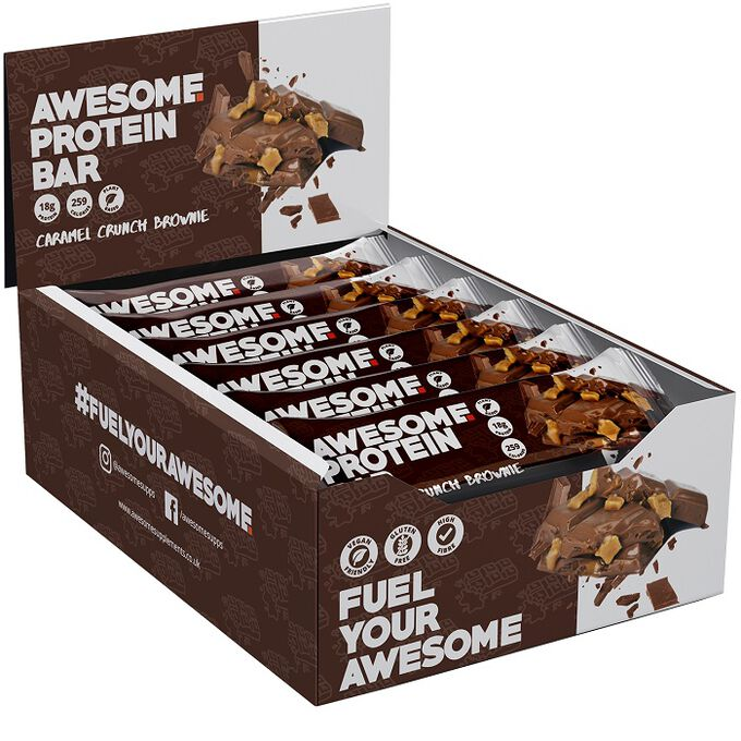 Awesome Supplements Awesome Protein Bars 12 bars Peanut Caramel Crunch