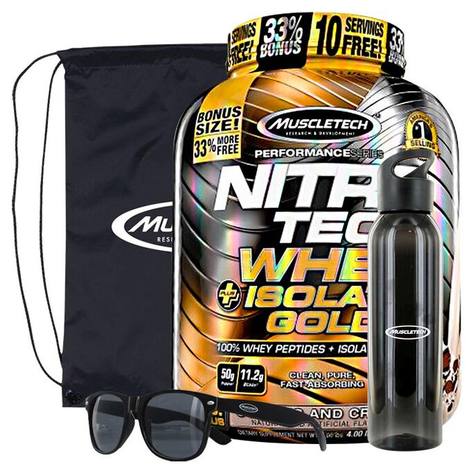 Muscletech Nitro-Tech Whey Plus Isolate Gold 1.81kg Double Rich Chocolate