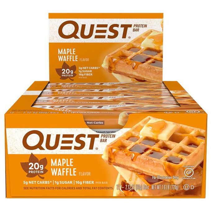 Quest Nutrition Quest Bars 12 Bars Maple Waffle